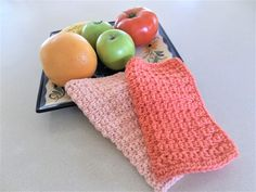 Crochet Dishcloths -  Cotton Dish/ Wash Cloths - Handmade DishCloths - Kitchen Accessories - Bath and Beauty - Housewarming Gift by DelsYarnBasket on Etsy