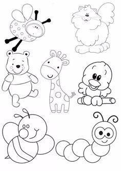 Art Drawings For Kids, Doodle Drawings, Drawing For Kids, Easy Drawings, Animal Drawings, Doodle Art, Art For Kids, Animal Coloring Pages, Colouring Pages