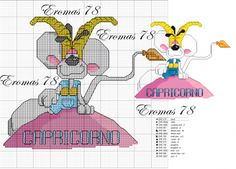 segni zodiacali diddl - Blog di Eromas Disney Stitch, Basic Colors, Mice, Cross Stitching, Cartoon Characters, Needlepoint, Cross Stitch Patterns, Tarot, Zodiac Signs