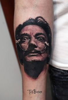 Valentina Ryabova Dali tattoo