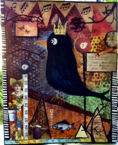 Mixed-media collage 20x25cm by Ansku