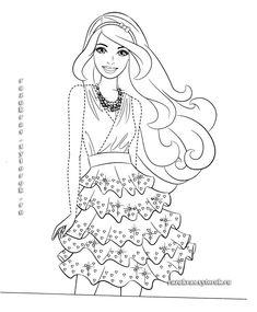 barbie-122 | Раскраски, Рисунки, Раскраски для печати