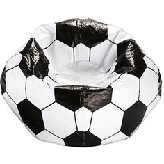 "96"" Round Vinyl Bean Bag, Soccer Ball"
