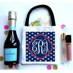 'Merica Stars Favor Totes, Hangover recovery Bag. Oh Shit kits! USA favors, america theme party bags