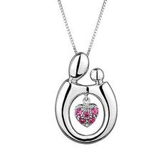 REEDS Exclusive Mother and Child� Created Pink Sapphire Pendant - Item 18947135 | REEDS Jewelers