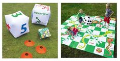 Outdoor snakes and ladders