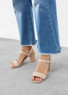 Heel leather sandals | VIOLETA BY MANGO