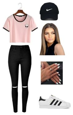 """Movies with Friends"" by ezinwa on Polyvore featuring Nike Golf and adidas"