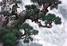 (North Korea) A Pine by Seong Cheol.