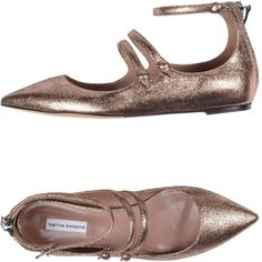 Tabitha Simmons Ballet Flats (1.735 RON) ❤ liked on Polyvore featuring shoes, flats, copper, tabitha simmons flats, animal flats, ballerina flat shoes, leather flat shoes and zipper shoes