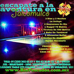 Escápate a la #aventura en #Jalcomulco http://www.riopescados.com.mx #Veracruz