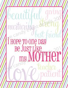 {FREE Subway Art} Mother's Day Subway Art Download
