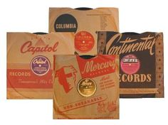 78 RPM Record Sleeves - my mother had so many of these from her teenage years
