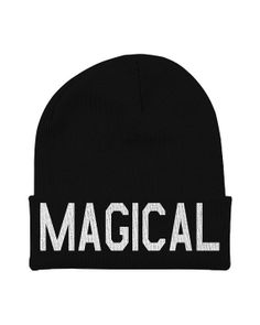 Magical Unicorn Beanie With Words  Hipster Unicorn by CharlieParty, $15.00
