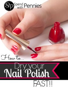 How to Dry Nail Polish QUICKLY!