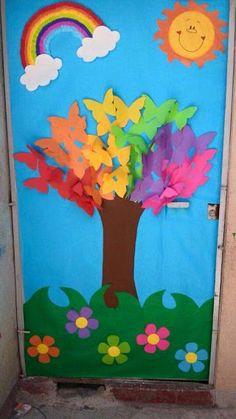 """""""Παίζω και μαθαίνω στην Ειδική Αγωγή"""" efibarlou.blogspot.gr: Ιδέες για ανοιξιάτικη διακόσμηση πόρτας της τάξης μας!"""