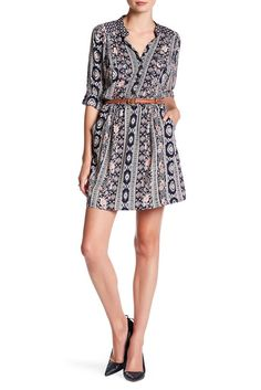 Image of Angie Long Sleeve Button Up Shirt Dress