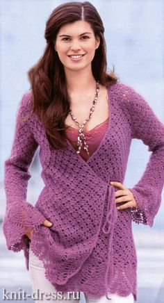 cute wrap cardigan....so beautiful, I'll never make this...but it's so beautiful