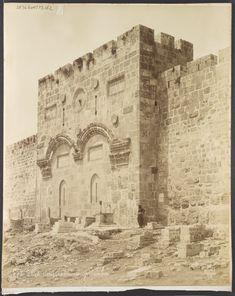 Jérusalem Porte dorée extérieur - Félix Bonfils