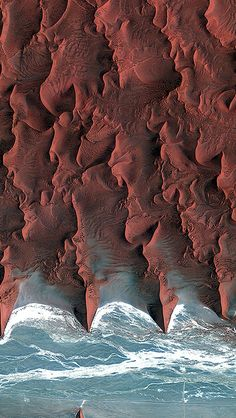 Namib Desert Red Earthview Pattern #iPhone #5s #wallpaper