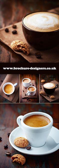 coffe images suitable for cafe menu design www.brochure-designers.co.uk #coffee #menudesign #cafemenu