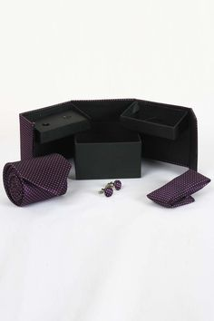 http://tinyurl.com/jmlbu6x Buy Designer WIDSOR Voilet Tie, Cufflink and Pocket Square Combo Sets Online only on GetAbhi.com