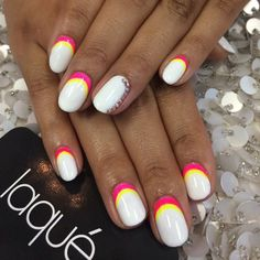 Full set with design...can also be done on natural nails as a gel manicure or regular manicure #laquenailbar