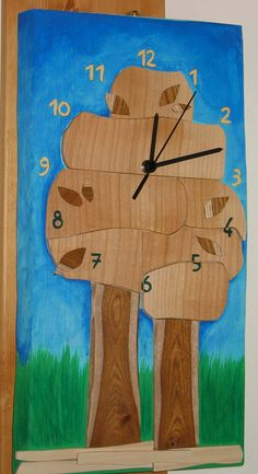Orologio in legno,Wooden wall clock,completely italian hand made