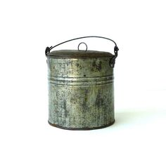 Antique Berry Bucket Lunch Pail by marybethhale on Etsy, $32.00