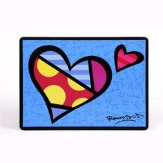 Britto Blue Heart Placemat