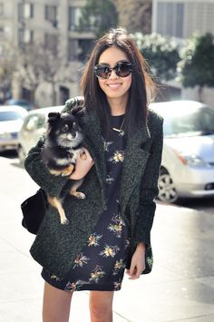 We love @Alison Herndon's style. (Her pup is cute, too!)