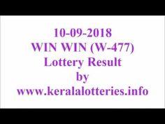 Kerala Lottery Result  Win Win W-477 on 10-09-2018