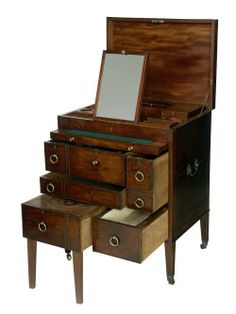 Naval officer's wash stand, c.1800. (National Maritime Museum)