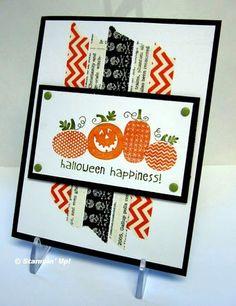 Jen's Sept swap - Halloween card...