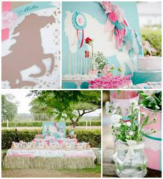 Pink and Teal Pony themed birthday party with So Many Cute Ideas via Kara's Party Ideas KarasPartyIdeas.com #ponyparty #ponypartyideas #partydecor (1)