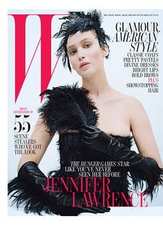 JENNIFER LAWRENCE ON W'S OCTOBER 2012 COVER.  By Lynn Hirschberg  Photographs by Tim Walker  Styled by Jacob K  September 2012      Read More http://www.wmagazine.com/celebrities/2012/10/jennifer-lawrence-actress-katniss-everdeen-hunger-games-cover-story-ss#ixzz26kaos3HE