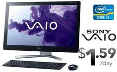 """Finance the SONY AIO-24XXL all in one PC - Loaded with 3rd Generation Intel Core i5, 24"""" Full HD (1920 x1080) Widescreen LED Touchscreen, 8GB Memory, 1.0TB Hard Drive from only $1.59 per day! Check it out! http://www.mdg.ca/finance/desktops.aspx?PID=pinterest1126vaio"""
