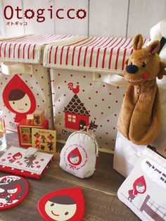 An entire line of adorable cuteness with Otogicco's Red Riding Hood collection. Little Red Ridding Hood, Red Riding Hood, Learn To Fly, Red Hood, Arts And Crafts Supplies, Little People, Fairy Tales, Creations, Stationery