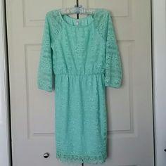 Mint green lace dress Size XL. Like new. Xhilaration Dresses
