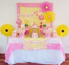Little Miss Sunshine birthday party! See more party planning ideas at CatchMyParty.com!