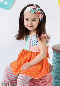 Take a look at this Matilda Jane Clothing Orange Tangy Shasta Babydoll Tunic - Toddler & Girls today! Little Girl Fashion, Kids Fashion, Kids Store, Matilda Jane, Cute Outfits For Kids, Baby Dolls, Doll Clothes, Jane Clothing, Kids Clothing