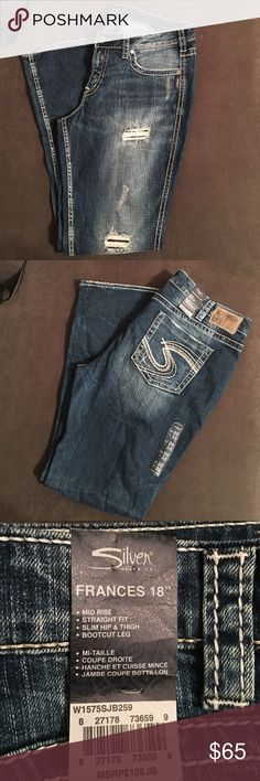 NWT Silver Jeans NWT Silver Frances bootcut jeans. Perfect wash with just the right amount of patched destruction! Silver Jeans Jeans Boot Cut
