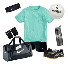 """""""Volleyball practice"""" by mollenkopfg on Polyvore featuring NIKE, Vineyard Vines and Asics"""