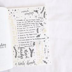 bullet journal idea : music playlist