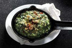 Garam masala, and yogurt-creamed spinach