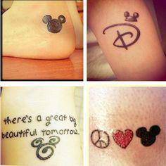 "Disney tattoo #theloveofmickey Love the carousel of progress omg !...I love the ""great big beautiful tomorrow"" one!"