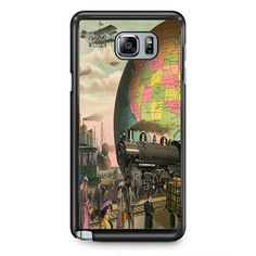 Trains Plane & Everything Else Vintage Postcard TATUM-11367 Samsung Phonecase Cover Samsung Galaxy Note 2 Note 3 Note 4 Note 5 Note Edge