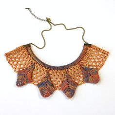 Aztec Geometric Statement Necklace Collar Knit by murraynagKnit
