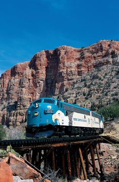 Verde Canyon Railroad, great train ride through the Verde Canyon near Cottonwood, AZ . Take the train from Clarkdale to Perkinsville...it's a slow peaceful ride.