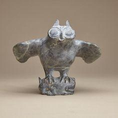 JOE TALIRUNILI (1893-1976), E9-818, POVUNGNITUK OWL CAUGHT A HARE  http://inuitart.waddingtons.ca/auction/197/lot-117